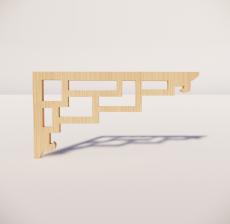 花角线花格_015_室内设计模型