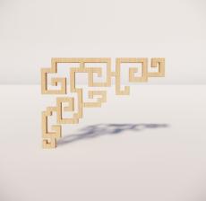 花角线花格_016_室内设计模型