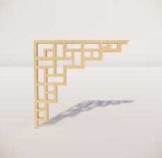 花角线花格_017_室内设计模型