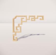 花角线花格_019_室内设计模型