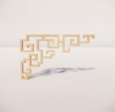 花角线花格_020_室内设计模型