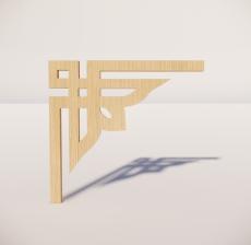 花角线花格_022_室内设计模型