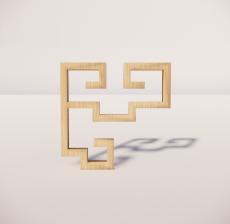 花角线花格_023_室内设计模型