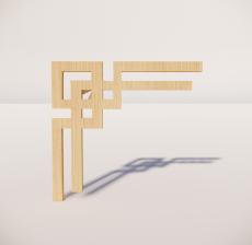 花角线花格_024_室内设计模型