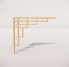 花角线花格_025_室内设计模型