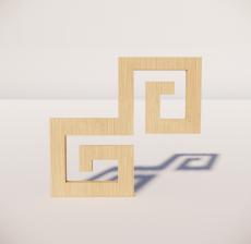 花角线花格_026_室内设计模型