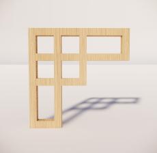 花角线花格_028_室内设计模型