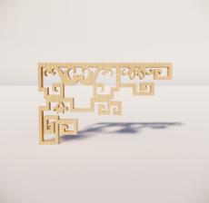 花角线花格_029_室内设计模型