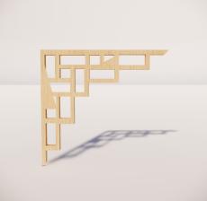 花角线花格_030_室内设计模型