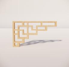 花角线花格_031_室内设计模型