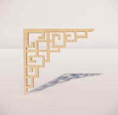 花角线花格_032_室内设计模型