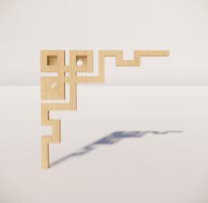 花角线花格_033_室内设计模型