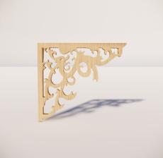 花角线花格_034_室内设计模型