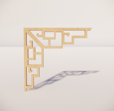 花角线花格_036_室内设计模型