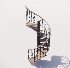螺旋楼梯_001_景观设计模型