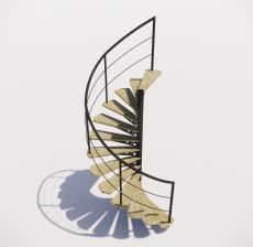 螺旋楼梯_002_景观设计模型
