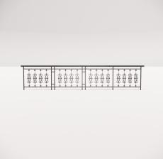 铁艺栏杆_001_景观设计模型