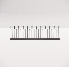 铁艺栏杆_002_景观设计模型