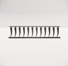 铁艺栏杆_003_景观设计模型