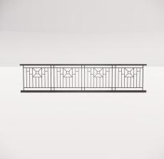 铁艺栏杆_004_景观设计模型