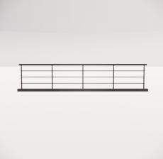 铁艺栏杆_005_景观设计模型
