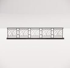 铁艺栏杆_006_景观设计模型