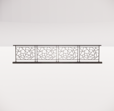 铁艺栏杆_007_景观设计模型