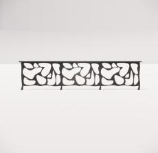 铁艺栏杆_008_景观设计模型
