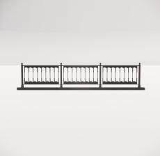 铁艺栏杆_009_景观设计模型
