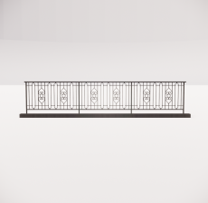 铁艺栏杆_010_景观设计模型