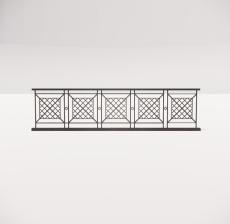 铁艺栏杆_011_景观设计模型