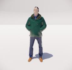 三维城市概念人物29_Sketchup模型