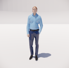 三维城市概念人物2_Sketchup模型