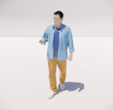 三维城市概念人物40_Sketchup模型