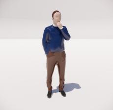 三维城市概念人物48_Sketchup模型