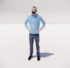 三维城市概念人物60_Sketchup模型