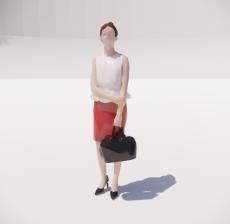 三维城市概念人物61_Sketchup模型