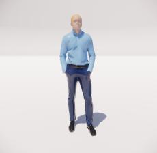 三维城市概念人物62_Sketchup模型
