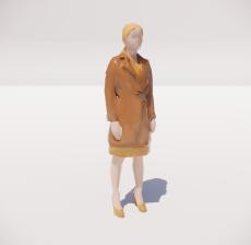 三维城市概念人物65_Sketchup模型