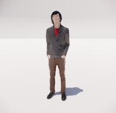 三维城市概念人物77_Sketchup模型
