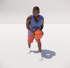 打篮球的三维城市概念人物34_Sketchup模型