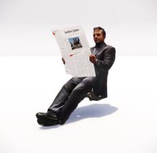 看报纸的男人_133_其他设计模型