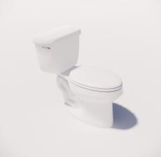 分体式坐便器_Sketchup模型