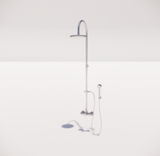 花洒2_Sketchup模型