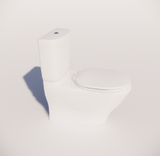 连体式坐便器_Sketchup模型