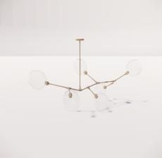 造型吊灯120_Sketchup模型