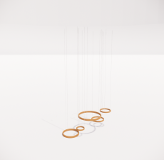造型吊灯129_Sketchup模型