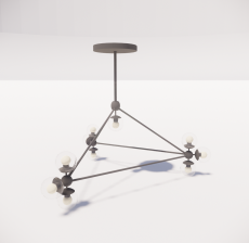 造型吊灯131_Sketchup模型