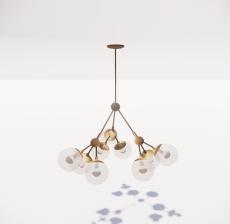 造型吊灯23_Sketchup模型