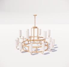 造型吊灯64_Sketchup模型